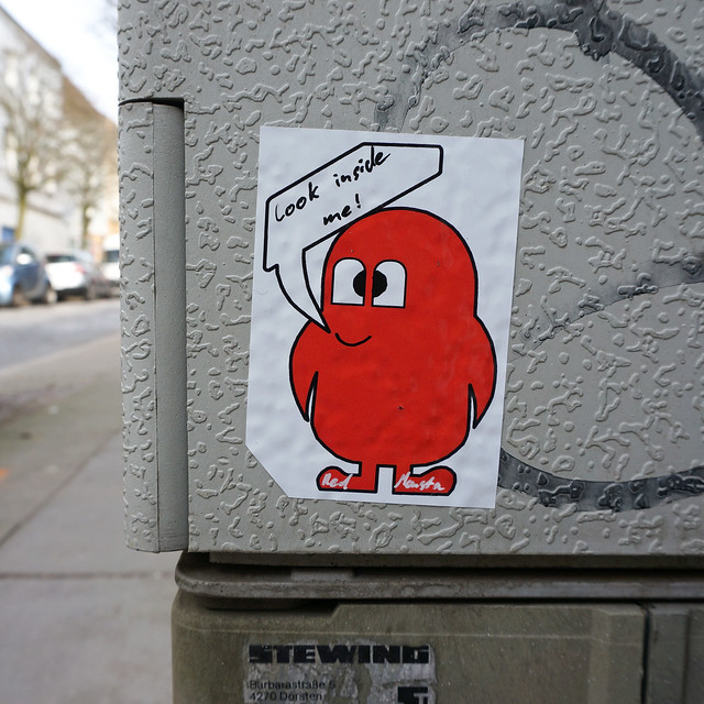 red monsta aufkleber