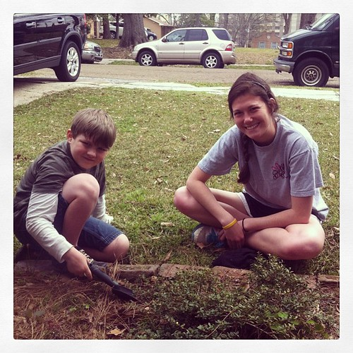 Weekly Saturday morning work time at We Will Go. #lifeatwewillgo #travis #missionarykids #volunteer #gardening #wewillgo