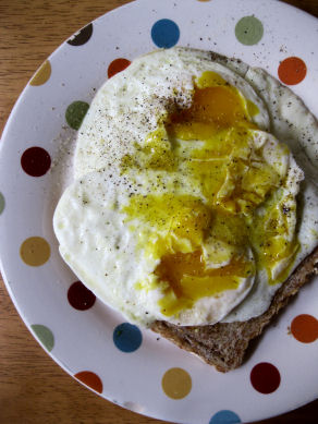 Over Easy Eggs on Toast