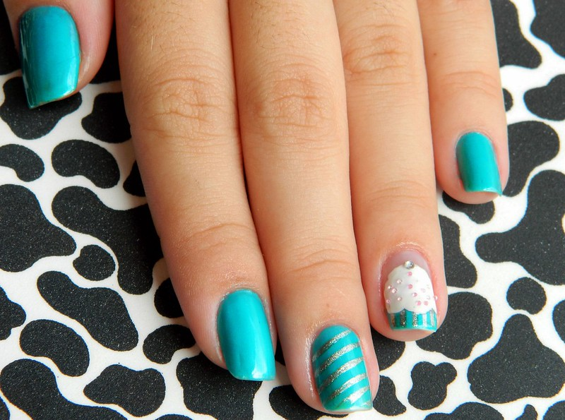 juliana leite blog post nail art cupcake bottons diy customizar 005