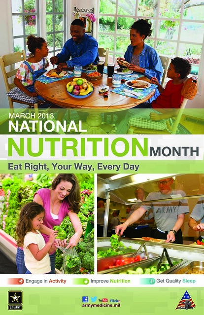 NATIONAL NUTRITION MONTH Poster 2013 from Flickr via Wylio