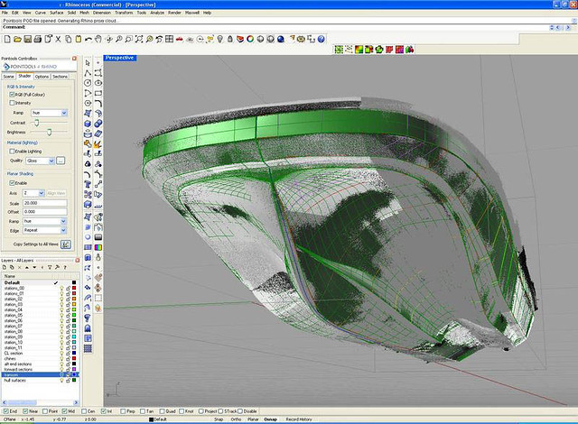 CAD modelling over pointcloud data