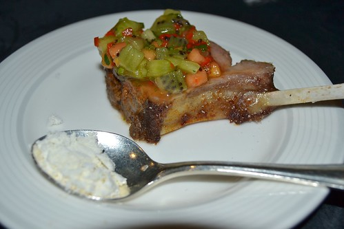 New Zealand Lamb Cutlet with Zespri Kiwi Fruit, Herb, and Manuka Honey Relish