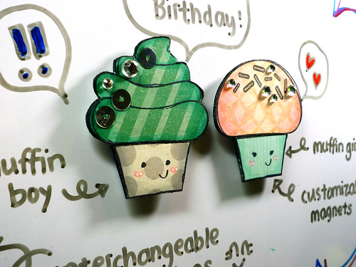 Muffin Magnets - Close Up