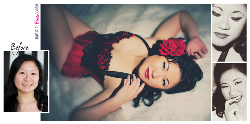 Asian Women Boudoir Pinup Photography