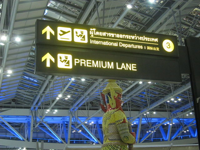 Premium Lane at Suvarnabhumi