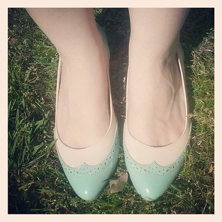 First day of #spring! Time to break out the #mint. Love these shoes from @modcloth by @baitfootwear.