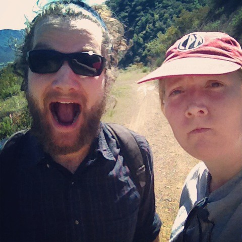 Jonathan and I have different reactions to hiking