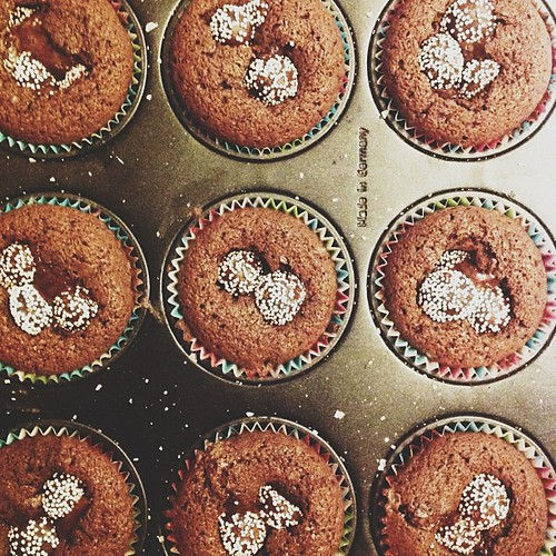 birthday muffins for my mother in law! recipe from @elsabillgren! ⭐✨