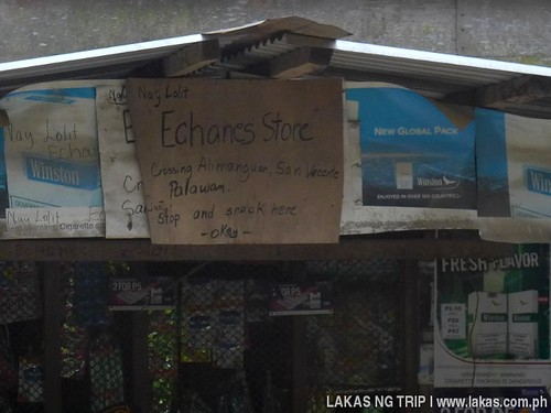 Store Signs and Locations - Echanes Store at Crossing Alimanguan, San Vicente, Palawan