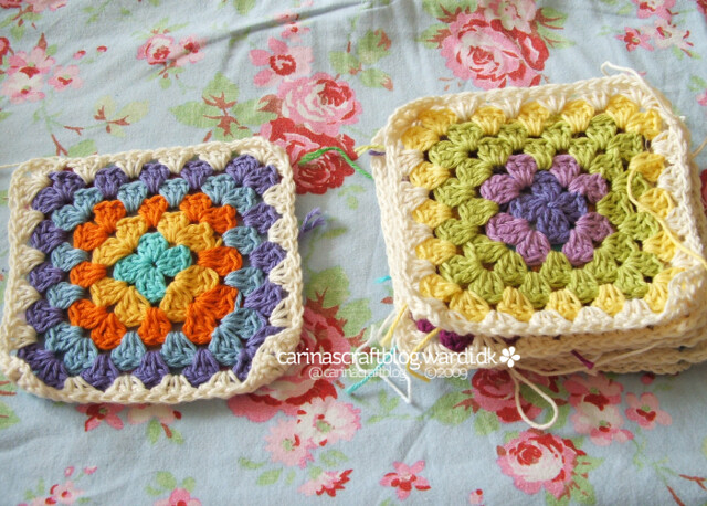 Crochet tutorial: joining granny squares 3
