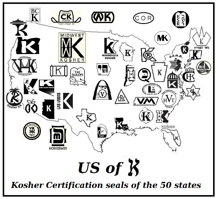 Afternoon map us of k in honor of passover here is a map from nicholas danforth showing the different kosher symbols used by local kosher certification agencies across north sciox Image collections