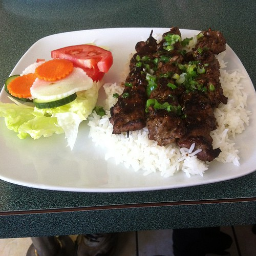 Grilled beef and rice. #yegfood by raise my voice