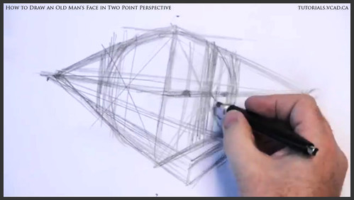 learn how to draw an old man's face in two point perspective 005