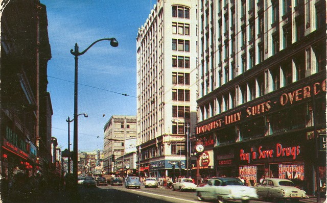 East on Pike, Seattle, c1950