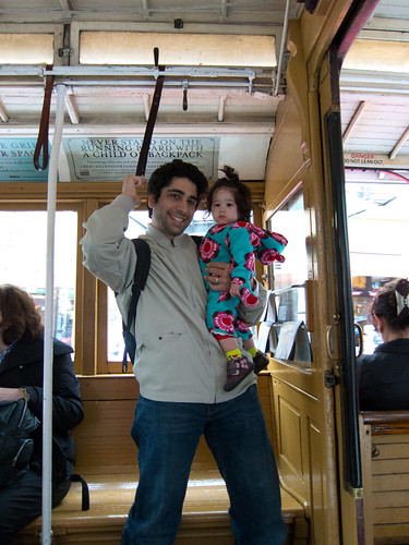 Scarlett and I on a Cable Car