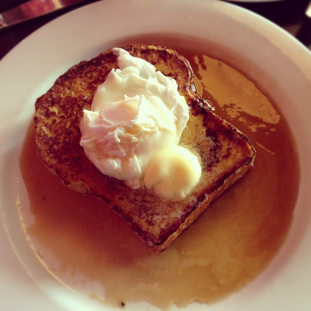 French Toast with Poached Egg! What?