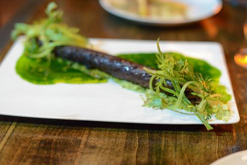 AKAUSHI BEEF pistachio, mustard juice
