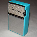 Transistor Radio Collection: Vintage Invicta 6-Transistor AM Radio, Model 300, Nice Aqua Color, Made in Taiwan