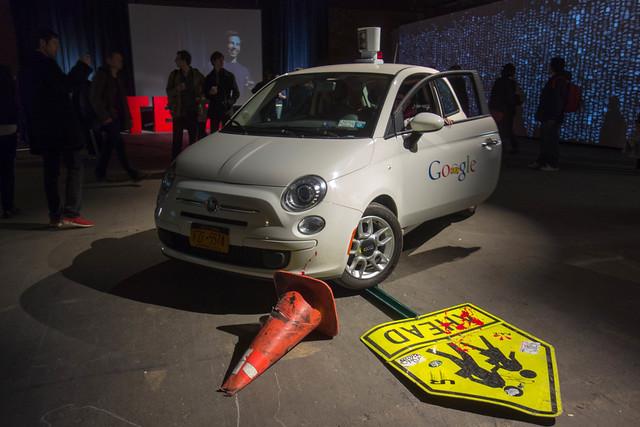 Fake Google Driverless Car at F.A.T. Gold