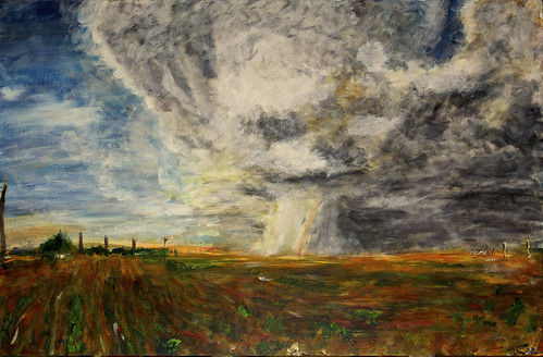summer sky usa cloud storm art weather painting florence lawrence rainbow artwork kansas supercell