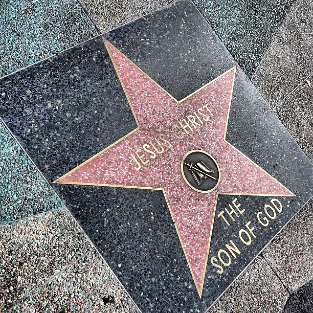 Dude, I had no idea Jesus got a star!