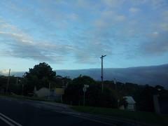 Cloud pretending to be a mountain