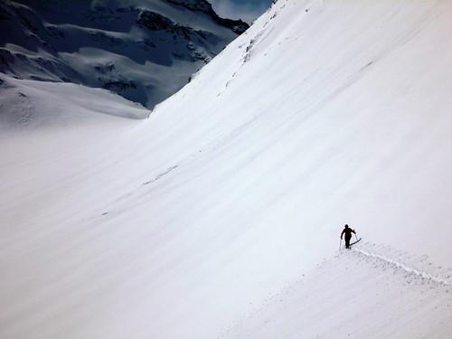 Traversée pour rejoindre le Col du Vallonnet