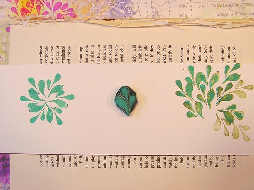 Hand Carved stamp raindrop design