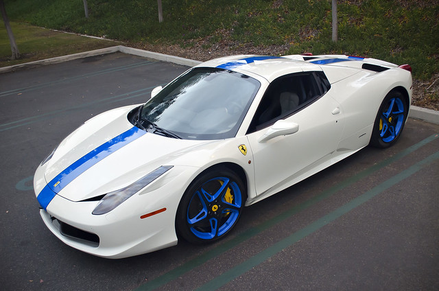 white blue ferrari 458 italia spider white blue ferrari 45 flickr photo sharing. Black Bedroom Furniture Sets. Home Design Ideas
