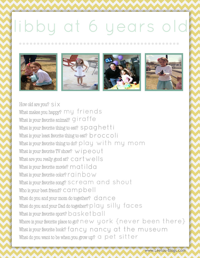 LeelouBlogs_Yellow Chevron Birthday Questionnaire