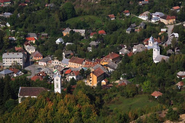 Roşia Montană Mining Landscape in Transylvania, ROMANIA