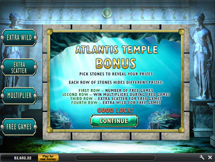 free Atlantis Queen Atlantis Temple Bonus