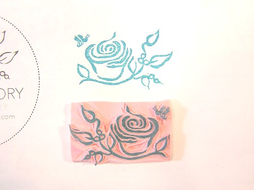 Autumn hathaway hand carved custom logo stamp