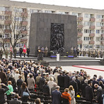 Official ceremony at the Monument to the Ghetto Heroes