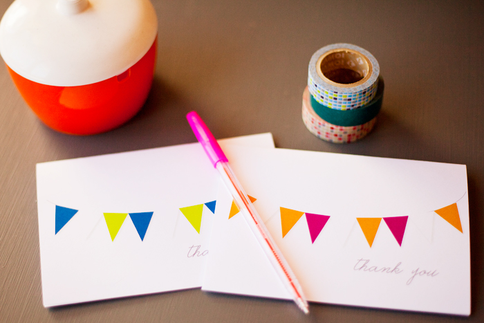 thank you cards and new bunting downloads by 74 Lime Lane