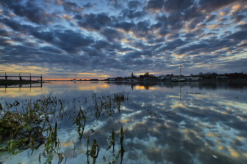 sunset water clouds reflections boats sussex bosham cloudy davidjacobs jakeof
