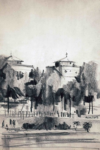 Around the river 2 by Behzad Bagheri Sketches