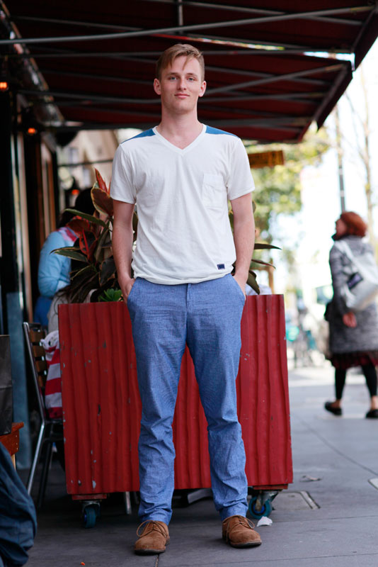 vneck men, San Francisco, street fashion, street style, Valencia Street