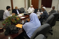 Br. Omar, Dr. Bagby, Dr. Jones, Dr. Alshingeiti, Dr. Curtis, and Sr. Matina Yahya