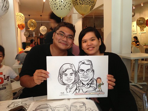 caricature live sketching for birthday party - 3