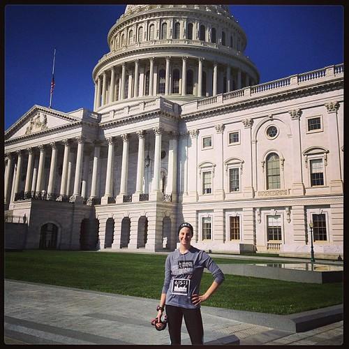 Run for Boston this morning in DC. #bostonstrong #runforboston #runchat