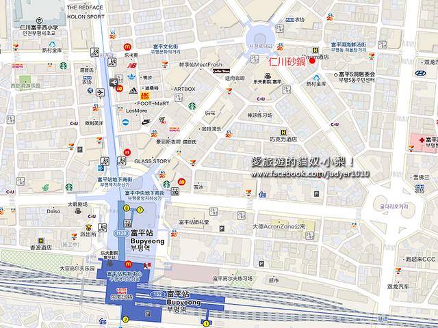 仁川砂鍋地圖