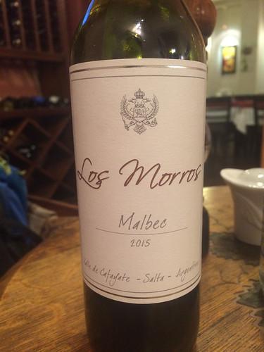 Cafayate: premier vin, rouge à 14%. Très bon !