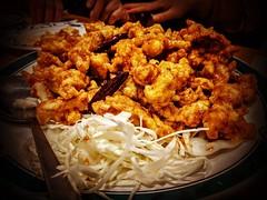 Tangsuyuk (탕수육,  糖醋肉), the Korean version of sweet and sour pork or orange chicken @DaeSong Restaurant #Flushing #Queens #WorldsFair