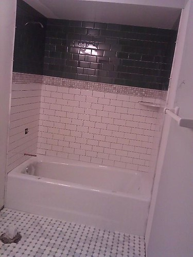 Ceramic subway tile and glass subway tile