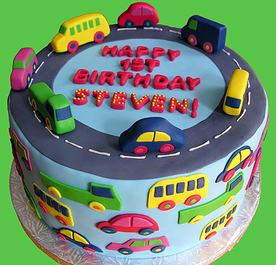 Car Cake With Shopping Bags