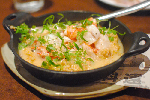 "buttery lobster with farro ""spezzato"""