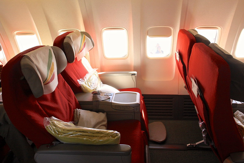 Ethiopian Airlines Business Class Seat on a 737-800
