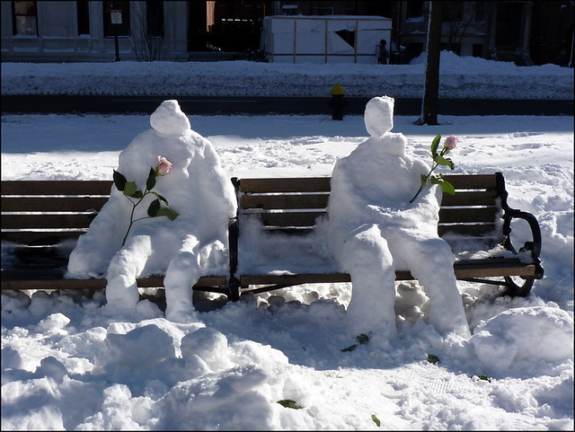 Snow people, Comm Ave Mall